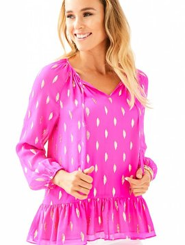 LILLY PULITZER TENSLEY SILK TOP