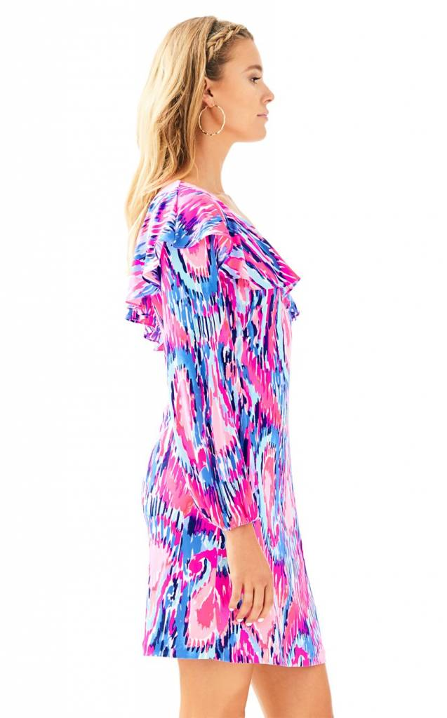 LILLY PULITZER AMANTE SILK JERSEY DRESS