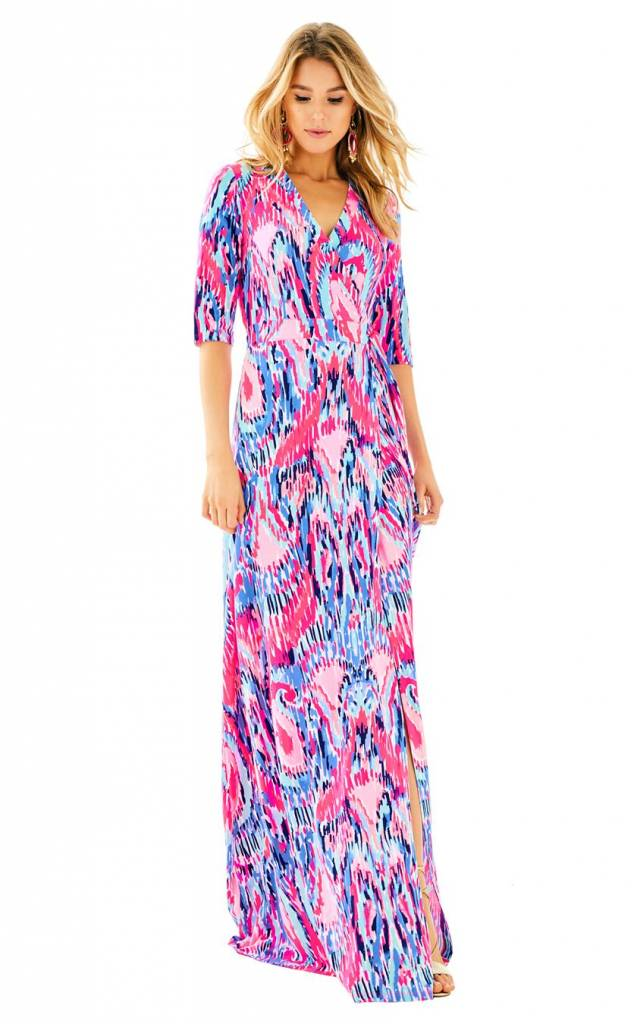 LILLY PULITZER MARVISTA WRAP MAXI DRESS