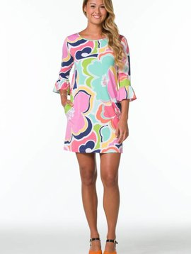 TORI RICHARD LANA DRESS RUFFLE SLEEVE