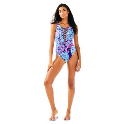 LILLY PULITZER ISLE LATTICE ONE PIECE SUITE