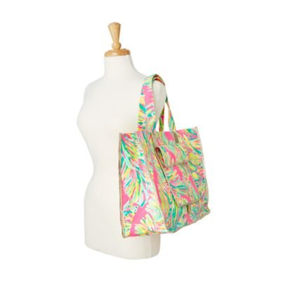 LILLY PULITZER SUNBATHERS FOLDABLE BEACH TOTE