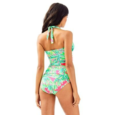 LILLY PULITZER BLISS HALTER TANKINI TOP