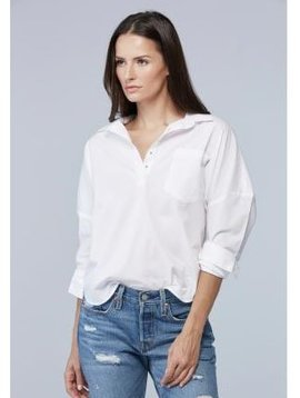 SUNDAYS NYC BALLINA EASY HENLEY BLOUSE
