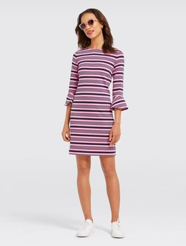 DRAPER JAMES OTTOMAN STRIPE DRESS
