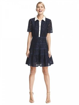 DRAPER JAMES MEADOW LACE SHIRT DRESS