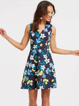 DRAPER JAMES ELLISTON FLORAL DRESS