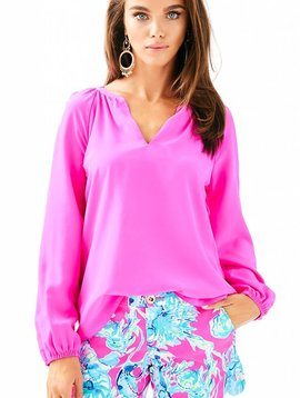 LILLY PULITZER LESLIE SILK TOP