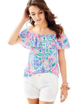 LILLY PULITZER LA FORTUNA OFF THE SHOULDER TOP