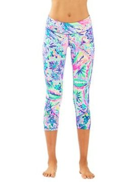 "LILLY PULITZER LUXLETIC 21"" ROCHELLE WEEKENDER LEGGINGS"