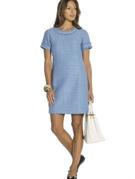 SAIL TO SABLE HYDRANGEA TWEED SHIFT DRESS