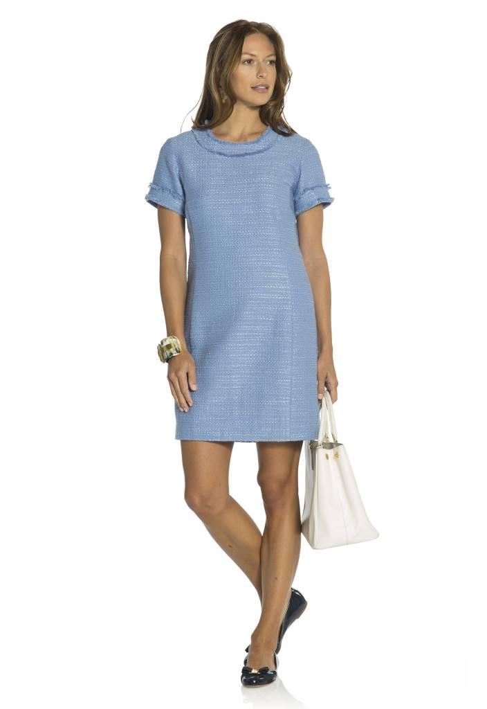 SAIL TO SABLE HYDRANGEA TWEED SHIFT DRESS
