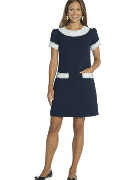 SAIL TO SABLE TWEED SHORT SLEEVE DRESS