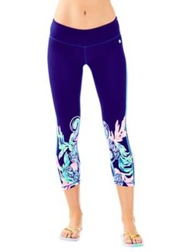 LILLY PULITZER UPF 50+ LUXLETIC 21 JOLENA WEEKENDER CROP LEGGING