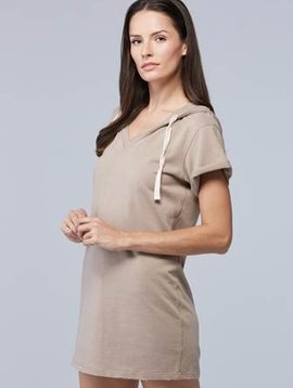 SUNDAYS NYC MELTON HOODIE DRESS