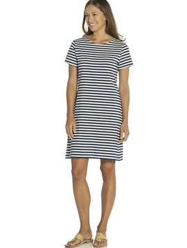 SAIL TO SABLE SHORT SLEEVE STRIPE DRESS