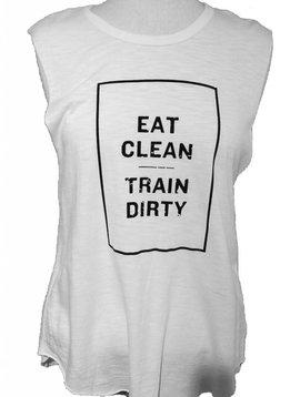 FEEL THE PIECE EAT CLEAN TRAIN DIRTY TEE SHIRT