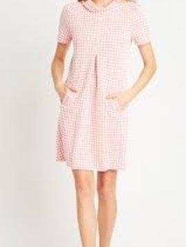 TYLER BOE CLAIR SLEEVELESS HOUNDSTOOTH DRESS