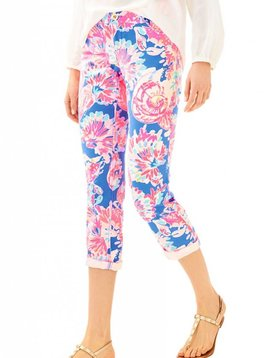 "LILLY PULITZER 26"" SADIE STRETCH CROP CHINO PANT"