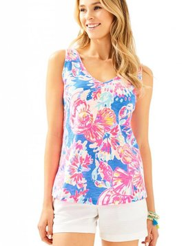 LILLY PULITZER GIGI V-NECK TANK TOP