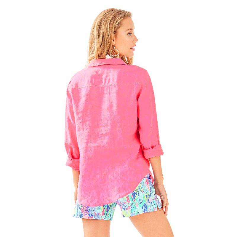 LILLY PULITZER SEA VIEW BUTTON-DOWN TOP