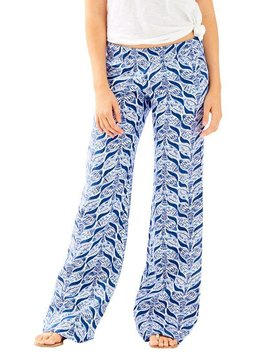"""LILLY PULITZER 33"""" BAL HARBOUR LINEN PALAZZO PANT"""