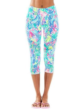 "LILLY PULITZER LUXLETIC 21"" THEAH WEEKENDER CROP LEGGING"