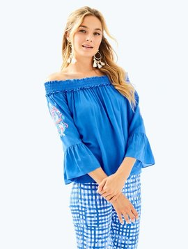 LILLY PULITZER MOIRA TOP