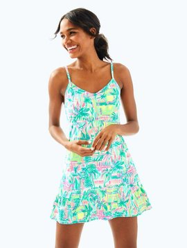 LILLY PULITZER UPF 50+ MERYL NYLON LUXLETIC ADELIA TENNIS DRESS