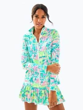 LILLY PULITZER UPF 50+ MERYL NYLON LUXLETIC HADLEE TENNIS JACKET