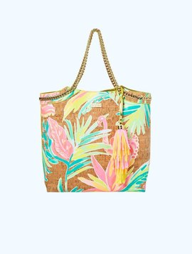 LILLY PULITZER REVERSIBLE SEASIDE TOTE BAG