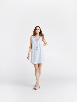 JOULES ORIANNE SLEEVELESS EMBROIDERED TUNIC