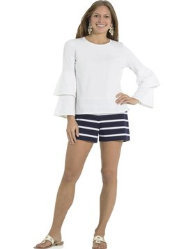 SAIL TO SABLE DOUBLE BELL SLEEVE SWEATER WHITE