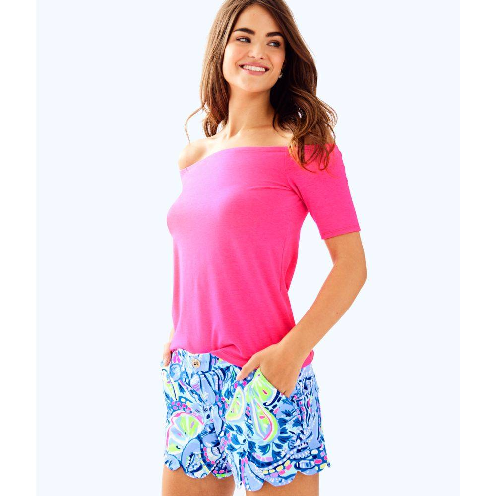 """LILLY PULITZER 5"""" BUTTERCUP STRETCH TWILL SHORT"""