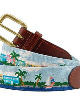 SMATHERS AND BRANSON ISLAND TIME NEEDLEPOINT BELT