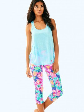 "LILLY PULITZER UPF 50+ LUXLETIC 21"" WEEKENDER CROPPED LEGGING"