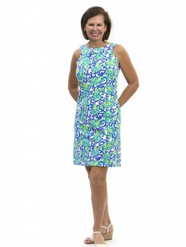 KATHERINE WAY SEASIDE DRESS TROPICAL WAVE