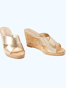 LILLY PULITZER SELENA SLIDE ON WEDGE