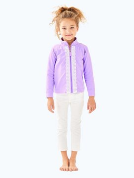 LILLY PULITZER GIRLS LITTLE LEONA ZIP UP