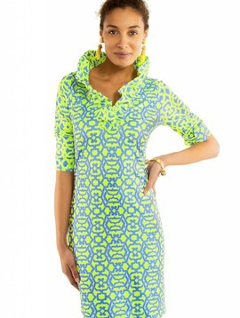 GRETCHEN SCOTT JERSEY RUFFNECK DRESS - RIO GIO