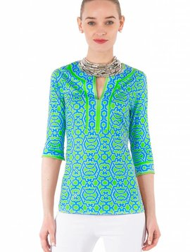 GRETCHEN SCOTT SPLIT NECK TUNIC -  RIO GIO TUNIC