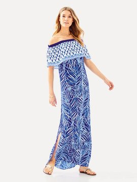 LILLY PULITZER ALICIA OFF THE SHOULDER MAXI DRESS