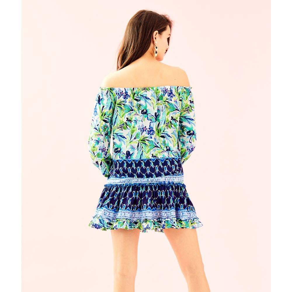 LILLY PULITZER LOU LOU OFF THE SHOULDER TOP