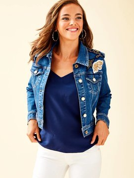 LILLY PULITZER SEASPRAY DENIM JACKET