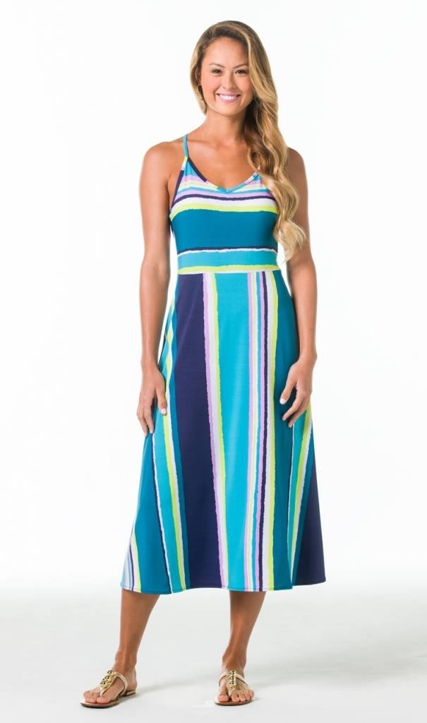 TORI RICHARD COURTNEY DRESS IN SHOW STRIPE