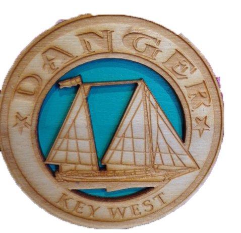 Bicast Sailboat Magnet