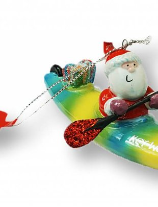 cape shore Santa in Kayak Ornament