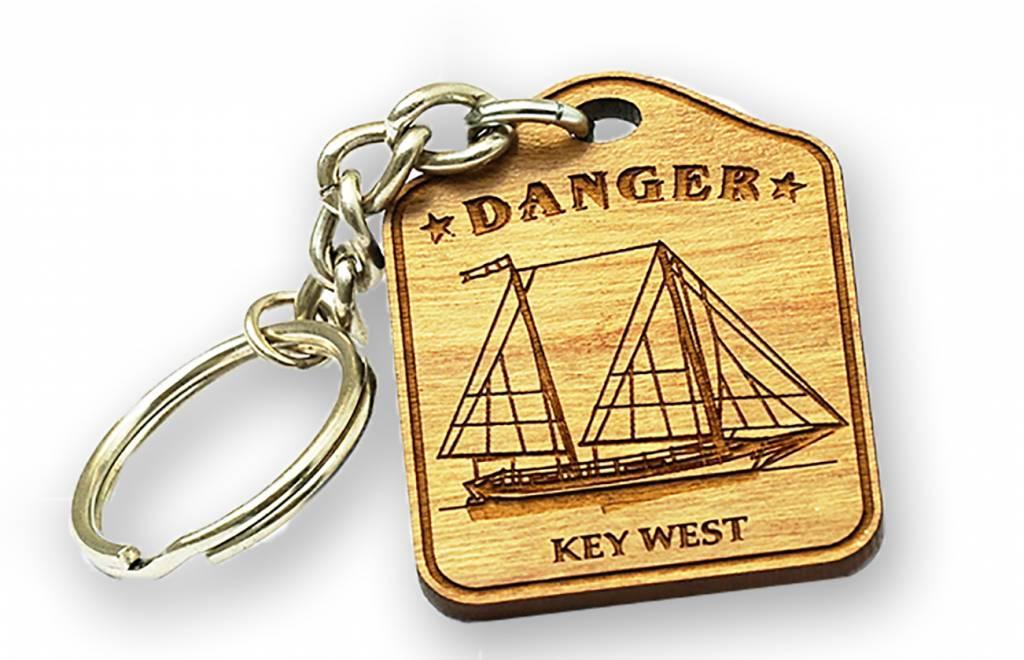 Bicast Danger Boat Keychain