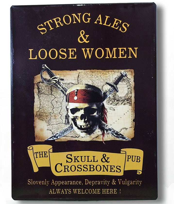 """Global Imports Metal Sign """"Strong Ales"""""""