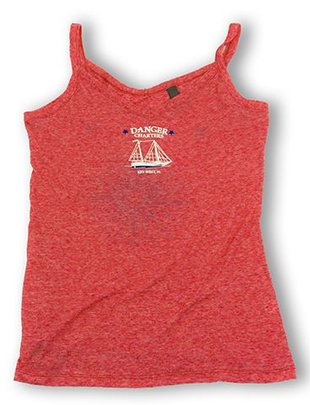 color fusion Women's burnout danger tank tops